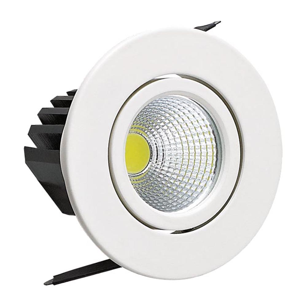 mini spot led downlight 3w rond blanc top prix. Black Bedroom Furniture Sets. Home Design Ideas