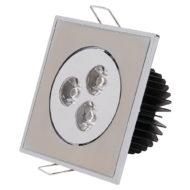 Spot LED downlight 3W carré