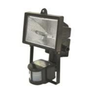 Projecteur halogène Noir 500W IP44 avec détecteur