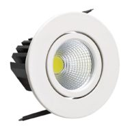 spot LED downlight 3W rond blanc