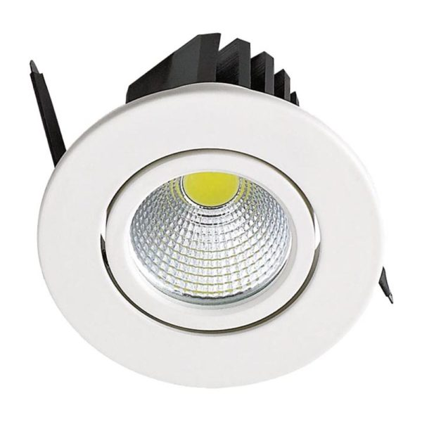 spot LED downlight 3W rond blanc