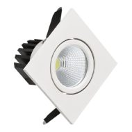 Spot LED downlight 3W carré blanc