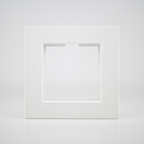 Plaque de finition simple Plastique blanc