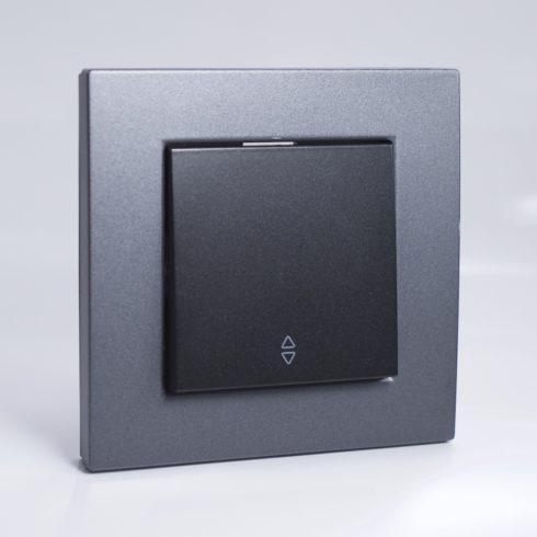 plaque de finition plastique fum 1 poste 81x83x10mm. Black Bedroom Furniture Sets. Home Design Ideas