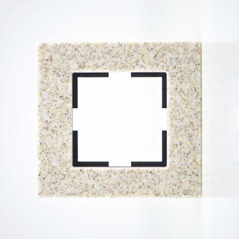 Plaque de finition simple Corian Grès