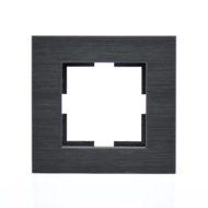 Plaque de finition simple Métal Noir