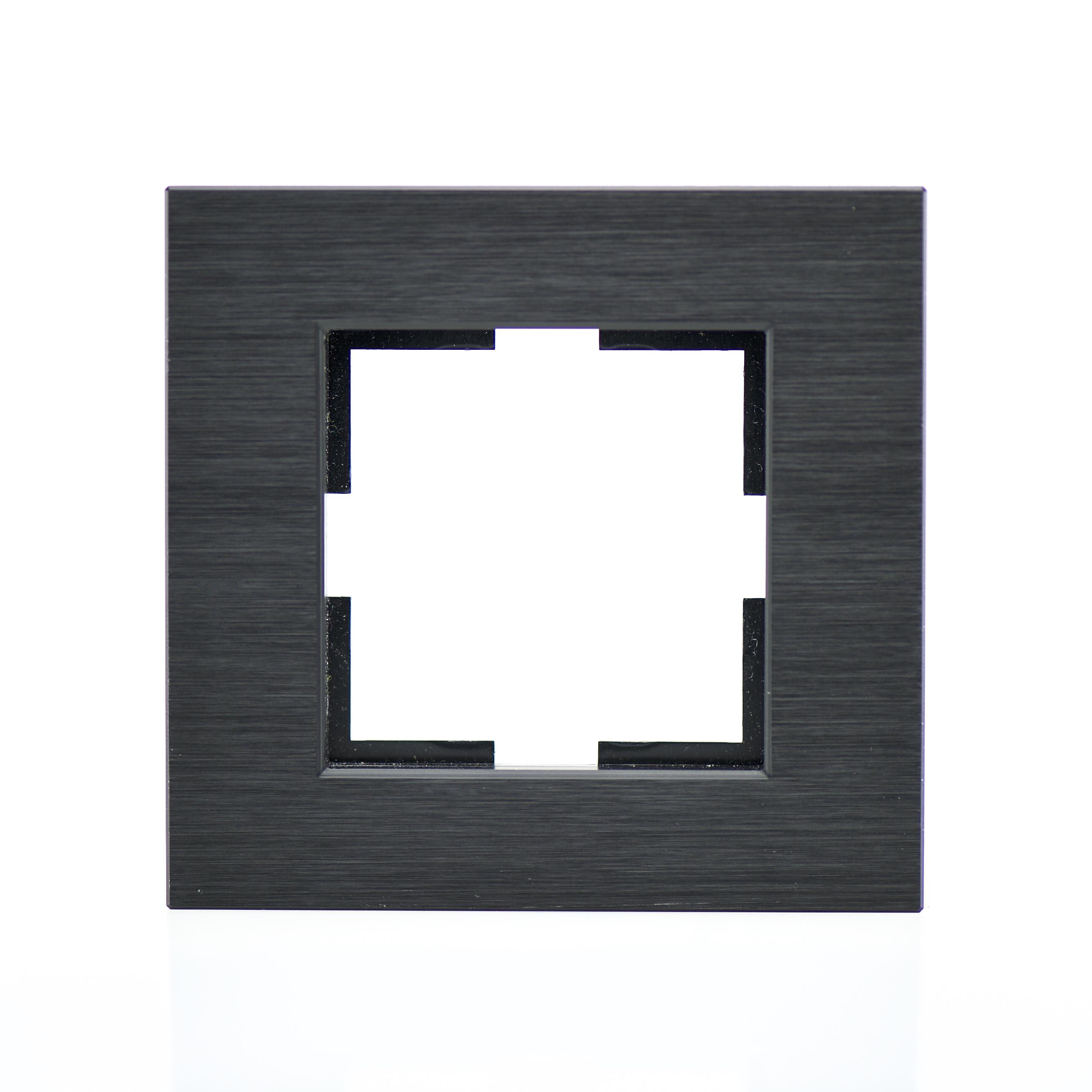 Plaque Metal Noir : plaque de finition m tal noir 1 poste 84x87x10mm distock mat riel lectrique et solutions d ~ Teatrodelosmanantiales.com Idées de Décoration