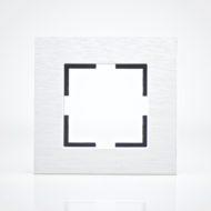 Plaque de finition simple Métal Alu