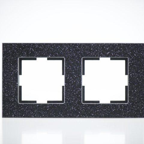 Plaque de finition double Corian Quartz