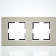 Plaque de finition double Métal Bronze