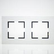 Plaque de finition double Métal Alu