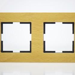 Plaque de finition double Bois massif Noix