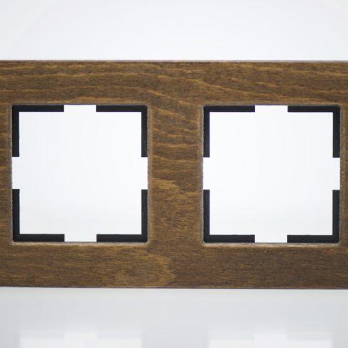 plaque de finition bois massif h tre 2 postes 84x159x10mm distock mat riel lectrique et. Black Bedroom Furniture Sets. Home Design Ideas