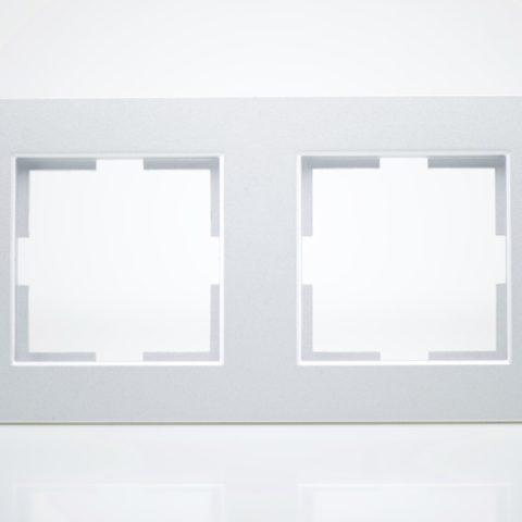 Plaque de finition double Plastique Alu