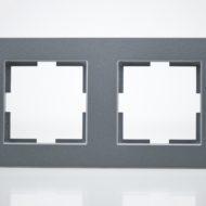 Plaque de finition double Plastique Fumé