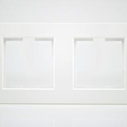 Plaque de finition double Plastique blanc
