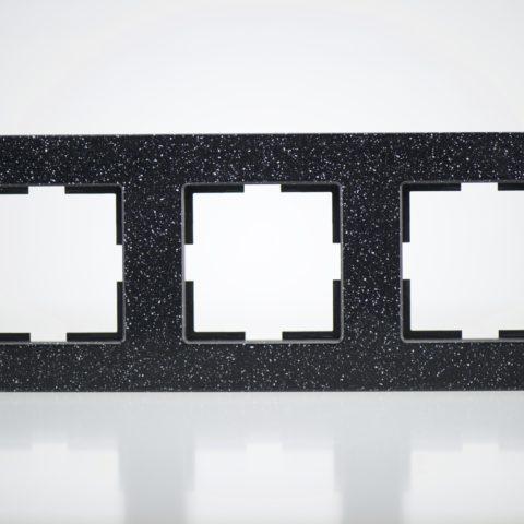 Plaque de finition triple Corian Quartz