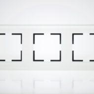 Plaque de finition triple Verre Blanc