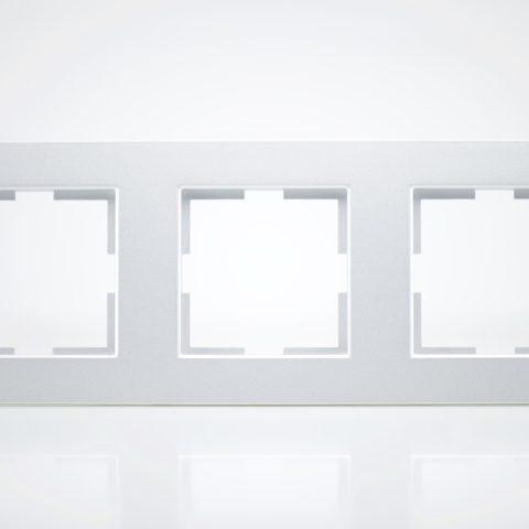 Plaque de finition triple Plastique Alu