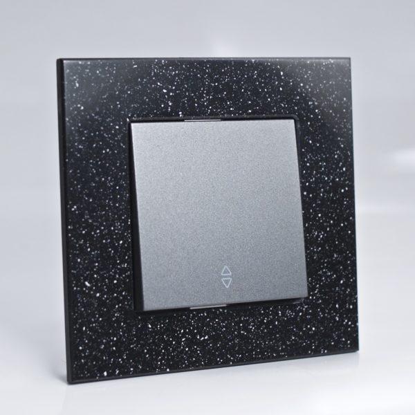 Plaque de finition corian quartz 1 poste 84x87x10mm