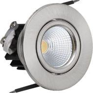 spot LED downlight 3W rond Mat chrome