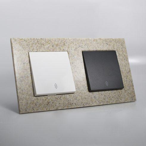 plaque de finition corian gr s 2 postes 84x159x10mm distock mat riel lectrique et solutions. Black Bedroom Furniture Sets. Home Design Ideas