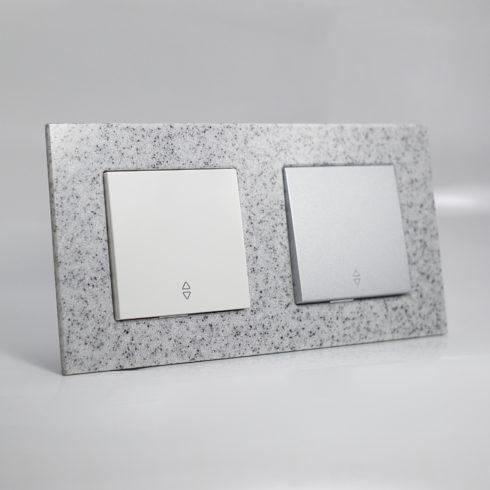 plaque de finition corian cr puscule 2 postes 84x159x10mm distock mat riel lectrique et. Black Bedroom Furniture Sets. Home Design Ideas