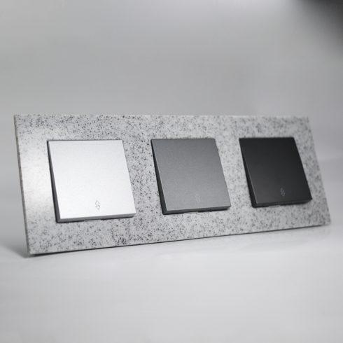 plaque de finition corian cr puscule 3 postes 84x230x10mm distock mat riel lectrique et. Black Bedroom Furniture Sets. Home Design Ideas