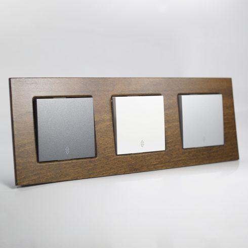plaque de finition bois massif h tre 3 postes 84x230x10mm distock mat riel lectrique et. Black Bedroom Furniture Sets. Home Design Ideas