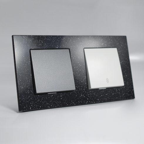 plaque de finition corian quartz 2 postes 84x159x10mm distock mat riel lectrique et. Black Bedroom Furniture Sets. Home Design Ideas