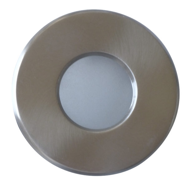 Support downlight étanche IP65 rond Mat chrome