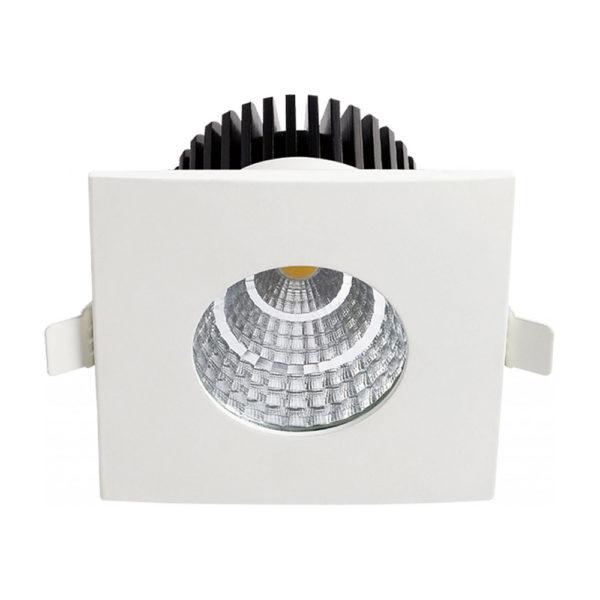 Spot LED Downlight 6W carré fixe étanche IP65