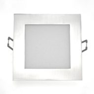 Spot LED Downlight 6W carré Mat chrome