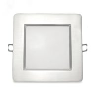 Spot LED Downlight 12W carré Mat chrome