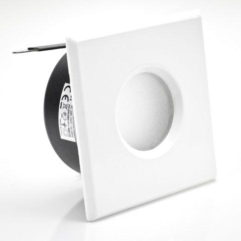 Support downlight étanche IP65 carré Blanc