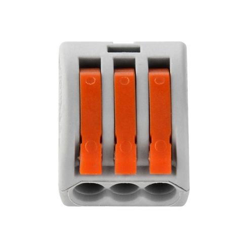 Borne de connexion 3 fils avec levier type wago