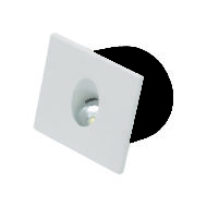 Spot LED mural carré blanc 3W (Eq. 25W) 4000K Dim 80x80mm