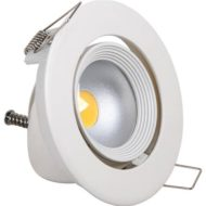 Projecteur spot COB LED rond escargot 10W (Eq. 80W) blanc 6500K Diam. 145mm