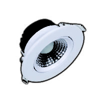 Spot LED downlight rond blanc 5W (Eq. 40W) 6400K Diam 88mm