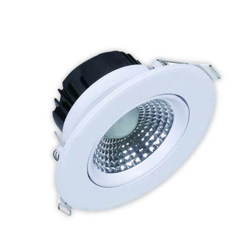 Spot LED downlight rond blanc 5W (Eq. 40W) 6400K Diam 88mm