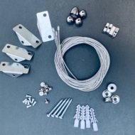 Kit suspension 4xcâbles (180 cm) pour panneaux LED Panasonic