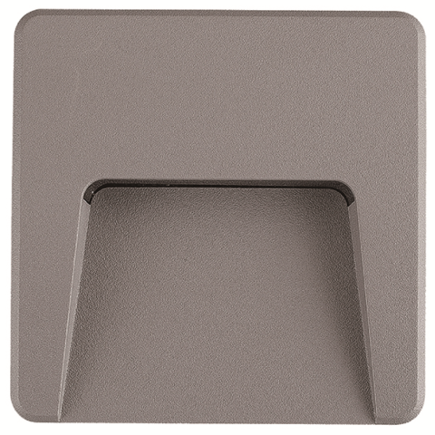Applique murale carré LED 3W IP65 Dim. 120x120mm