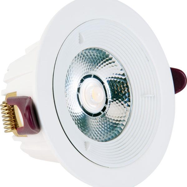 Spot COB LED downlight rond blanc dimmable 7W (Eq. 56W) Diam 98mm 4000K 36°