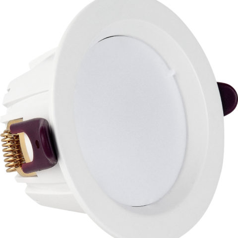 Spot COB LED downlight rond blanc dimmable 7W (Eq. 56W) Diam 98mm 4000K 120°