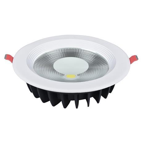 Spot COB LED downlight rond blanc 20W (Eq. 160W) Diam 195mm