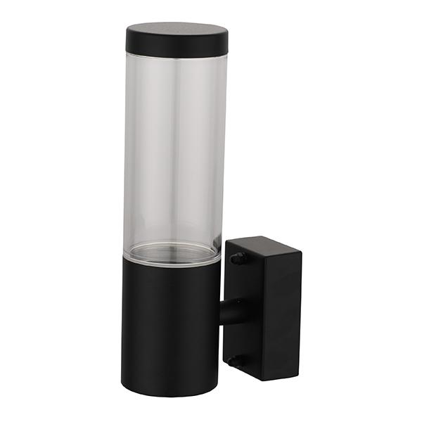 Applique LED montante RIGA-W1S GU10 IP44 Noir Dim. 60x108x220mm